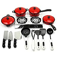 Kids Play Toy Kitchen Cooking Food Utensils Pans Pots Dishes Cookware Supplies