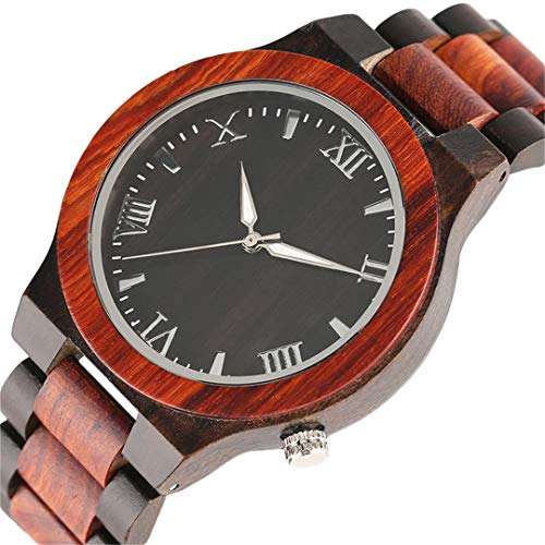 Handgemachte Volle Bambus Quarz Uhren FüR MäNner Einzigartige Mode Holz Armbanduhren Vintage MäNnliche Uhr MäNnliche Uhr Stunden Analog Geschenke