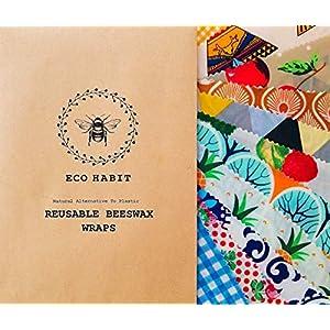 100% Natural Beeswax Food Wrap handmade in sunny Romney Marsh UK, Zero Waste, Reusable, random colours, 30x25cm large sheet