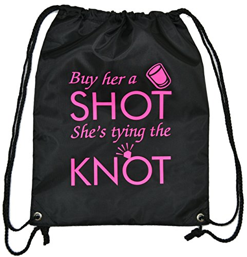 bride-to-be-fun-buy-her-a-shot-shes-tying-the-knot-drawstring-bag-free-postage