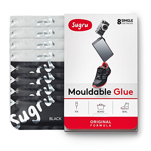 £10.60 Good Sugru Mouldable Glue – Original Formula – Black & White 8-Pack