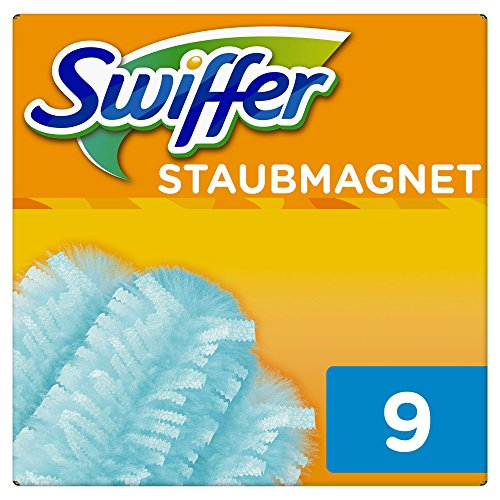Swiffer Staubmagnet Tücher Nachfüllpackung, 2er Pack (2 x 9 Tücher) (2 Stück Bücherregal)