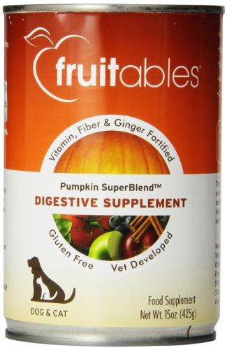 Ingwer Verdauungshilfe (fruitables Pumpkin Hund Digestive Nahrungsergänzungsmittel mit Vitamin, Fasern und Ingwer gestärkt können 15-ounce)