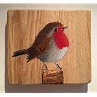 Amazon wedding gifts handmade products robin stencil artwork handmade spray painted picture on wood easter gift gift for her negle Image collections