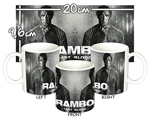 MasTazas Rambo V Last Blood Sylvester Stallone Tasse Mug