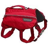 Ruffwear Trinkrucksack für Hunde, Inklusive 2 x 600 ml Wasserflasche, Große bis sehr große Hunderassen, Größenverstellbar, Größe: L/XL, Rot (Red Currant), Singletrak Pack, 50302-615LL1