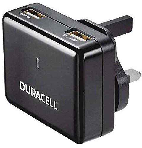 Duracell Mobile Charger (Duracell DR6001A 3.4A 2-Port USB Reiseladegerät für Tablet/Smartphone, Eingang 100-240V mit 4 Austauschbare Wandstecker (EU/UK/US/AU))