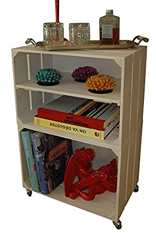 PREMIUM WOODEN SHELF BOOKCASE, Stand, Vintage Storage Display Shelving Unit
