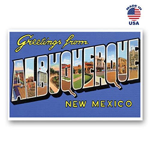 Albuquerque New Mexico (Grußkarten von Albquerque im Vintage-Stil, Nachdruck von 20 identischen Postkarten Postkarte mit großem Buchstaben Albuquerque, New Mexico-Stadt (ca. 1930er-1940er-Jahre. Hergestellt in den USA.)