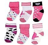 #10: Baby Grow Carters 3 Pair Cotton Anti Skid Baby Socks 0-6 Months (GIRLS)