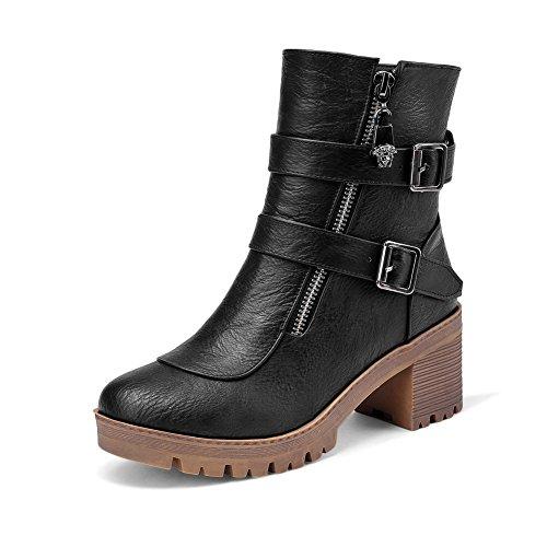 A&N ,  Damen Chukka Boots , schwarz - schwarz - Größe: 37