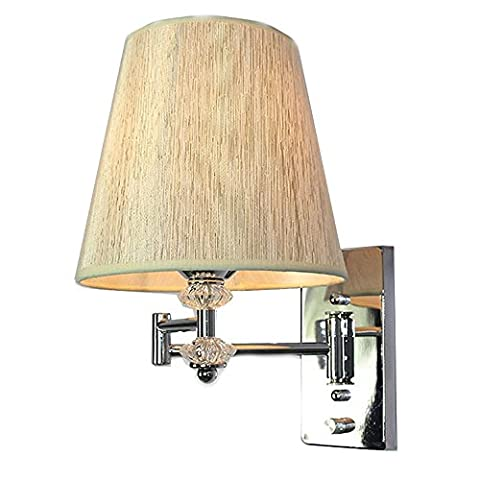 Modern Swing Arm Wall Lamp Bedroom Bedside Wall Sconces Reading Nightlight WL269