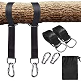Hängematten-Bänder Outdoor Strong Tree Swing Straps mit 2 Alloy Carabiners D-Shaped Ring und Lagerkag für Camping Backpacking Gartenbaum Swings150cm