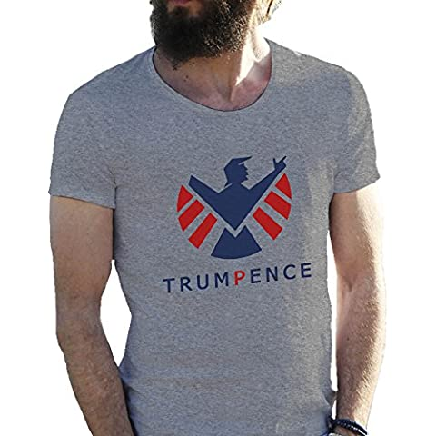 Donald Trump Pence Fun Agents Of Shield T-shirt maglietta per uomo in grandi dimensioni