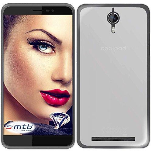 mtb more energy® Schutzhülle Milky für Coolpad Porto S (E570, 5.0'') | weiß/transparent | flexibel | TPU Case Schutz Hülle Tasche