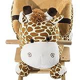 Homcom Schaukelpferd Kinder Schaukeltier Plüsch Schaukel Pferd Baby Schaukelspielzeug Geschenk für Kinder (Schaukelgiraffe) -