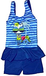 Kids Girls Swim Suit Cute Baby Tom Kitty Cartoon (Swimming Costume Swimwear) 13-18Kg