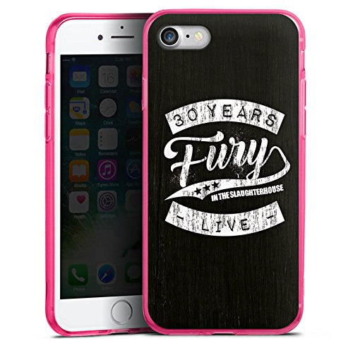 Apple iPhone 8 Silikon Hülle Case Schutzhülle Fury in the Slaughterhouse Merchandise Rock Silikon Colour Case pink