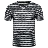 T-Shirt à col V, Malloom Homme Été Casual SOID Hole Pull Top Blouse