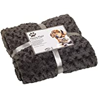 Nobby 70979-01 Kuscheldecke Fleece Plaid  Super Soft , 60 x 85 cm, grau
