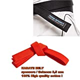 Cintura Karate Belt Aikido Karate - gi 100% Cotone 3,5 mm Colori Vari (A2 / 290 cm, Arancione)