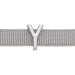 GD GOOD.designs EST. 2015 Buchstaben Charms Anhänger für Mesh Armband in Roségold, Charmband für Damen (Silber Buchstabe Y)