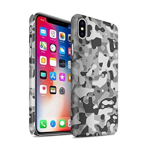 Clipser Matte Coque de Stuff4 / Coque pour Apple iPhone X/10 / Vert 3 Design / Armée/Camouflage Collection Blanc 3