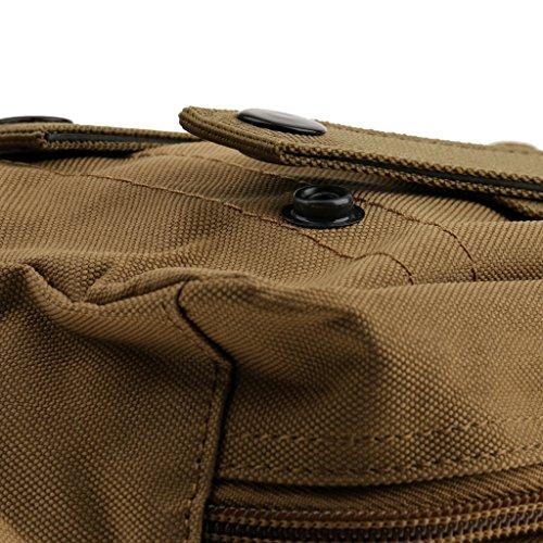 Gazechimp Taktische Zubehörtasche, Praktische Mini Gürteltasche, Outdoor Rucksack zusätzliche Beutel, Molle Pouch Braun