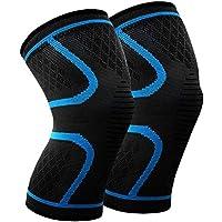 MANLI Kniebandage, Elastische Kniebandage 1 Paar Anti-Slip Kniestütze, schnellere Genesung, mehr Stabilität und Unterstützung beim Laufen und Joggen