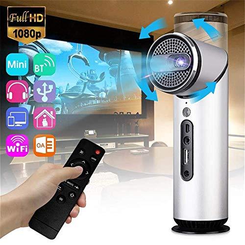 Correzione Mini proiettore intelligente Android 6.0 Wifi Bluetooth DLP 8G 1080P Multimedia Home Theater Video proiettore 90 Stazione di rotazione verticale Screenless Vision Keystone messa,k3(Silver)
