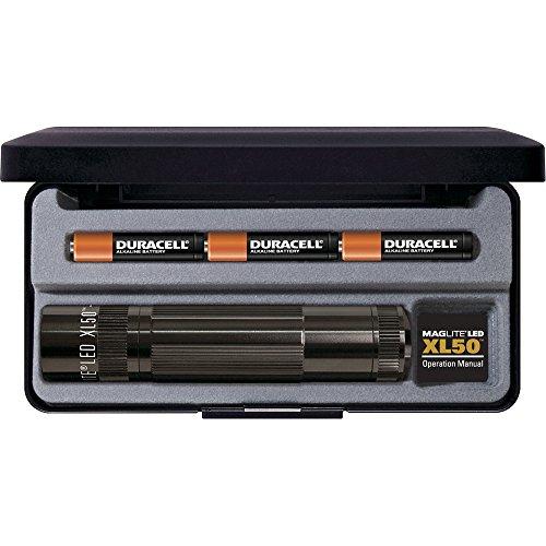 Mag-Lite LED Taschenlampe XL50, 104 Lumen, schwarz, 12 cm mit 3 Modi und Endkappenschalter, XL50-S3017