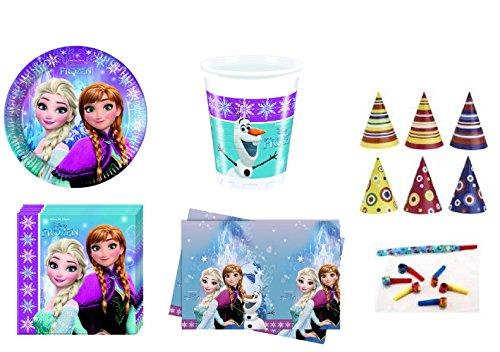 Procos irpot- kit n39 compleanno bambina frozen con cappellini trombette