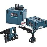 Makita Akku-Set, 18 V DHR264, DDF458, DC18RC und 3x BL1840 im Makpac, DLX2082MJ