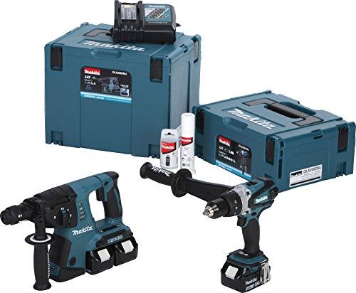 Preisvergleich Produktbild Makita Akku-Set, 18 V DHR264, DDF458, DC18RC und 3x BL1840 im Makpac, DLX2082MJ