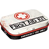 Nostalgic-Art 81256 Nostalgic Pharmacy - First Aid Kit | Pillen-Dose | Bonbon-Box | Metall | mit Pfefferminz-Dragees, 15g