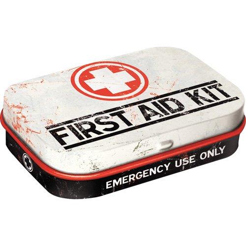 Nostalgic Pharmacy - First Aid Kit | Pillen-Dose | Bonbon-Box | Metall | mit Pfefferminz-Dragees, 15g ()