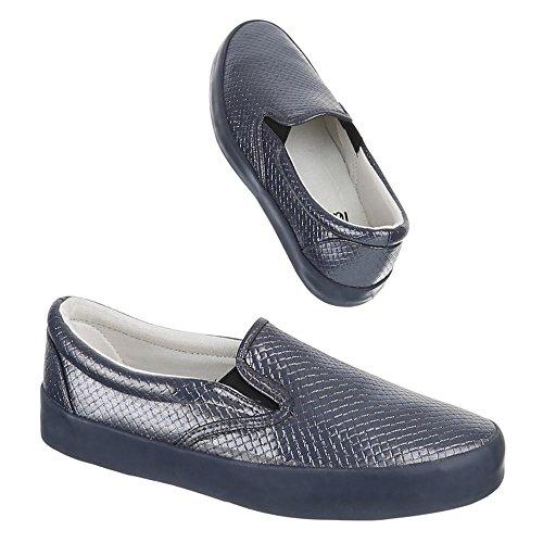 Damen Schuhe, IR-375, HALBSCHUHE SLIPPER Grau