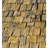 Holzschindeln - 30 Stück - Ideale Ergänzung zum Krippenbausatz HOCHALM - Handgeschlagen, an den Enden gebrochen - Eignen sich für die Gestaltung von alten Gebäuden, Schuppen oder KRIPPEN - C337439