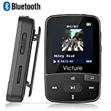 Victure Bluetooth MP3 Player 8GB Clip Sport Portable Lossless Sound Hi-Fi Music Player