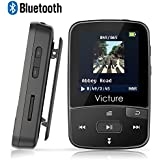 Victure Lettore MP3 Bluetooth con Clip 8GB MP3 Player con Radio FM, MP3 Player per Sport e Corsa, sostegno SD USB TF Fino alla Carta di 64GB