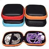 Kopfhörer Tasche, INTVN Universal Tasche Klein Platz kopfhörer-Tasche Mini Hardcase Aufbewahrungsbox für In Ear Ohrhörer, MP3 Player, Schlüssel, 4 Stück