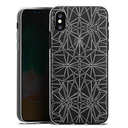 Apple iPhone X Silikon Hülle Case Schutzhülle Transparent mit Muster Kaleidoskop Mandala Silikon Case transparent