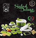 Salad Delux Plus by Stone&Stone Insalatiera Taglia Verdure visto in Tv Affettatutto / Centrifuga insalata Robot da cucina + Trita Aglio + TagliaUovo + Pela Patate in Ceramica