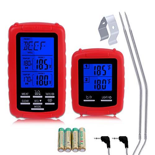 Digitales Küchenthermometer mit LCD Display Thermometer für BBQ Fleisch Milch DE