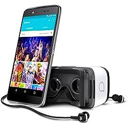 "Alcatel Idol 4 - Android Free Smartphone (Screen 5.2 "", 13 MP camera, 16 GB, Octa-Core 1.7 GHz, 3 GB RAM), Dark Gray - with Virtual Reality Glasses"