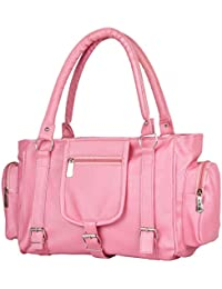 Paras Fashions Stylish Baby Pink Color Synthetic Leather Shoulder Bag For Girls/Handbag For Women