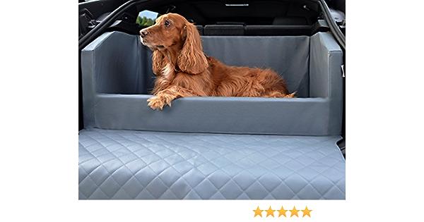 Travelmat Plus Kofferraum Hundebett Fürs Auto 90x70 Cm Kunstleder Grau Haustier