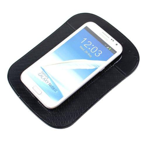 Preisvergleich Produktbild 2-TECH Anti Rutsch Matte Halter XXL Tablethalter passend für ipad,  Smartphone universal in schwarz
