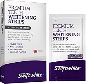 Teeth Whitening Strips, Fast Results & No Sensitivity, Superior Than Crest 3D Whitestrips and HiSmile Teeth Whitening Kits, 100% Money Back (1-Pack)