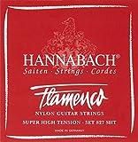Juego de cuerdas para guitarra flamenca Hannabach 827 SHT. Tensión super alta